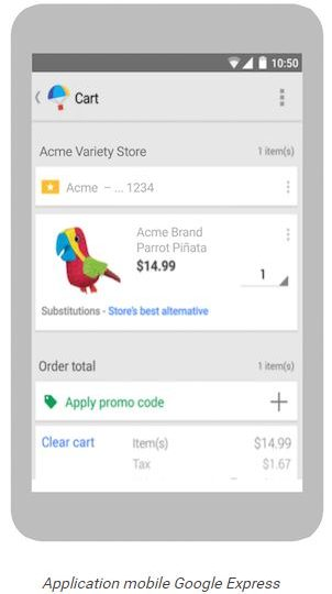 application mobile google express