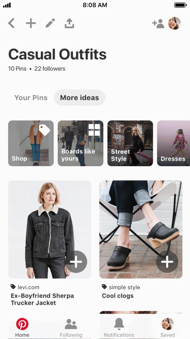 Pinterest nouvelles fonctionnalités