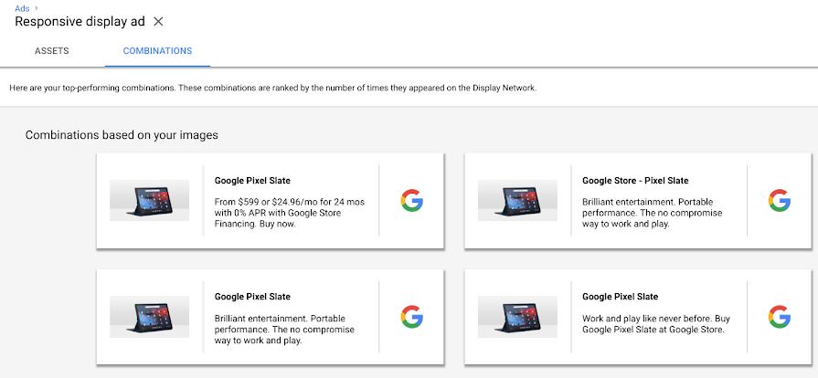 Rapport de combinaisons Google