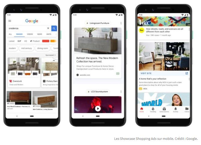 Mobile Shopping Showcase Google
