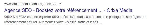 Balise Meta Description dans Google