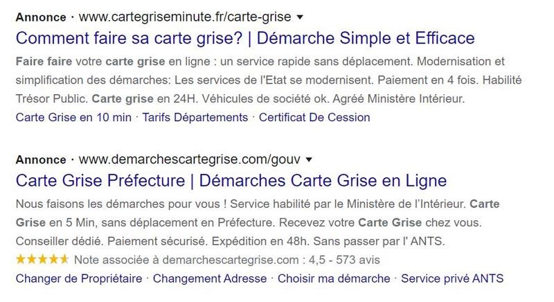 Format Google Ads