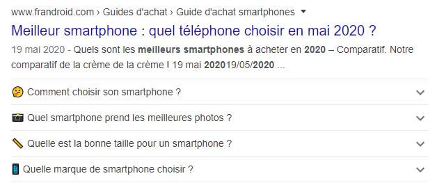 exemple faqpage google
