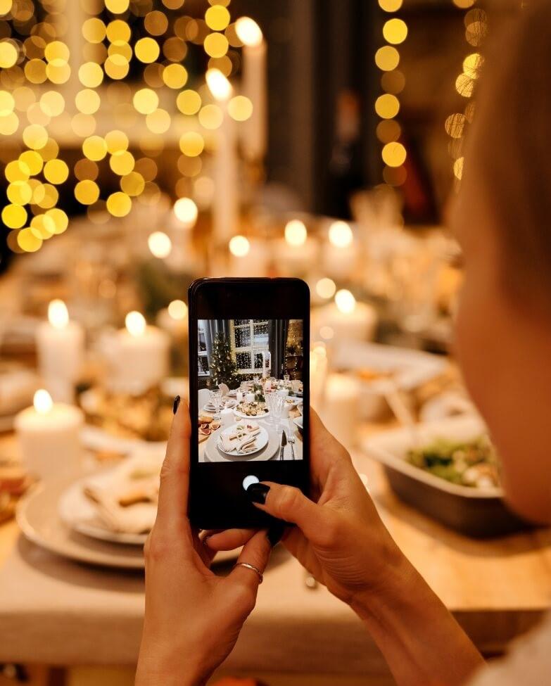 photo table de Noël smartphone
