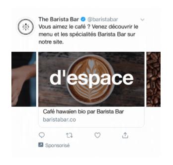 publicité carrousel Twitter